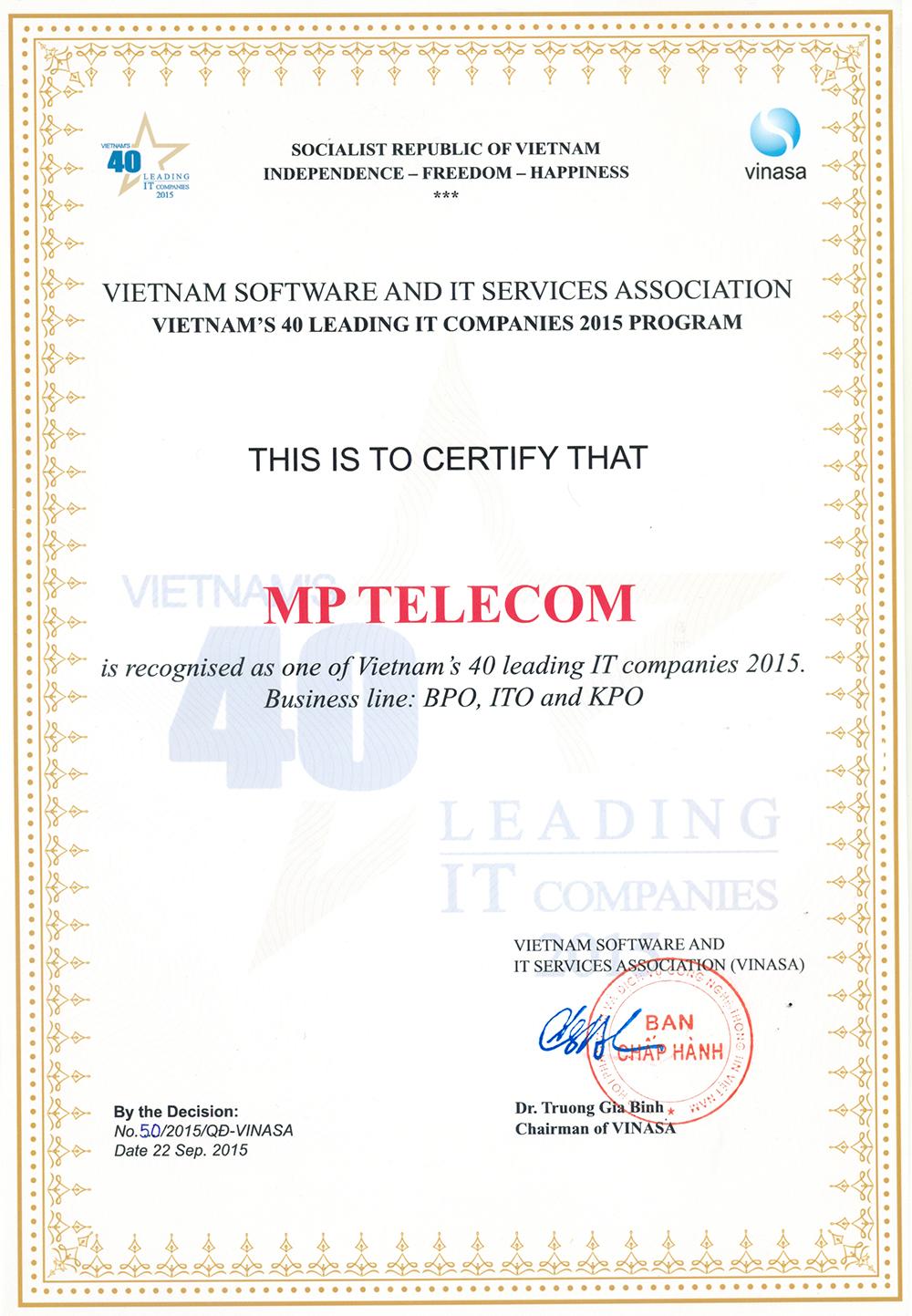MPTelecomInVietnam'sLeadingITCompanies